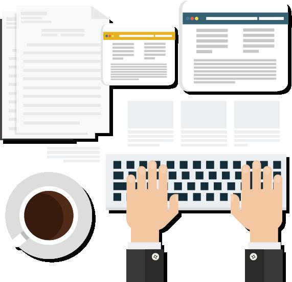 Stanowisko pracy do pisania tekstów reklamowych do strony www