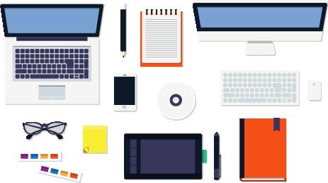 Narzędzia grafika do wykonywania projektów wizytówek i ulotek reklamowych