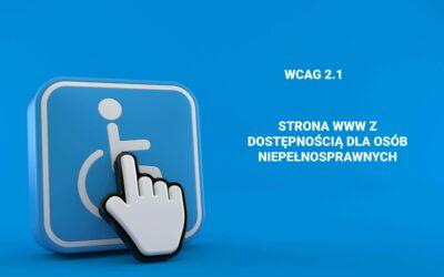 Strona www dostosowana do ustawy o dostępności cyfrowej WCAG 2.1